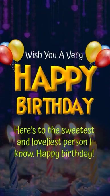 Happy Birthday Template Status WhatsApp