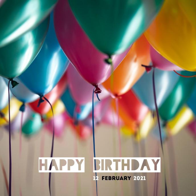 Happy Birthday TEMPLATE Portada de Álbum
