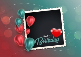 Happy birthday to you Postcard template