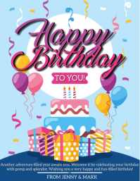 HAPPY BIRTHDAY TO YOU FLYER TEMPLATE Ulotka (US Letter)