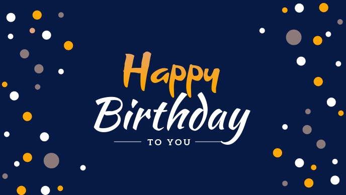 Happy Birthday to you Greeting Template Facebook Cover Video (16:9)