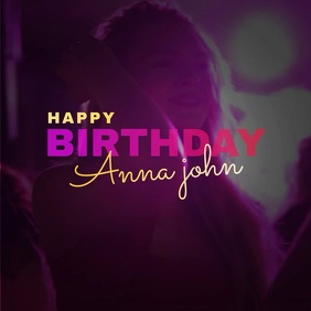 Happy birthday Video Album Cover template