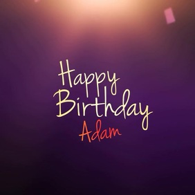 Happy Birthday Video TEMPLATE Album Omslag