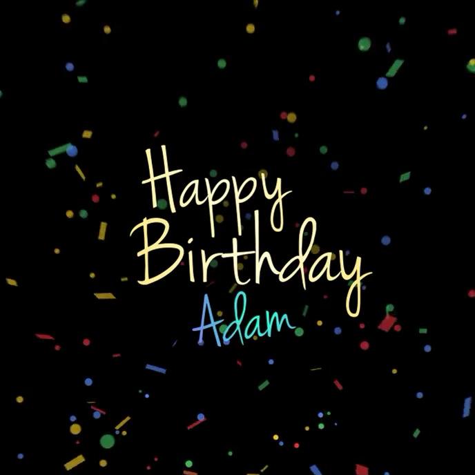 Happy Birthday Video TEMPLATE Album Cover