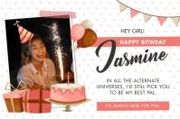 Happy Birthday Wish and Party Invitation Bann