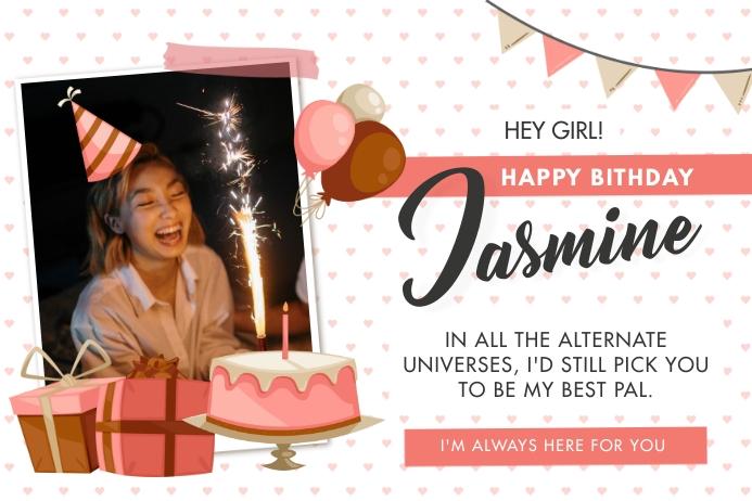 Happy Birthday Wish and Party Invitation Bann Iphosta template