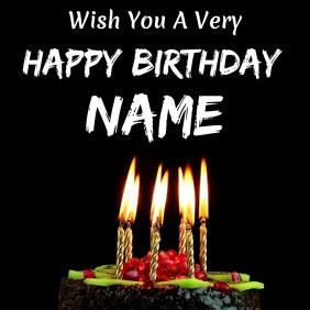 Happy Birthday Wish Cuadrado (1:1) template