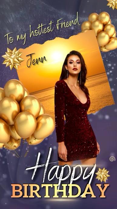 happy birthday wish instagram story template