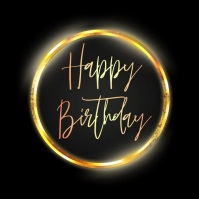 happy birthday wish instagram template