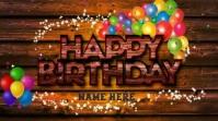 Happy Birthday Wishes Animated GIF With Sound Umbukiso Wedijithali (16:9) template