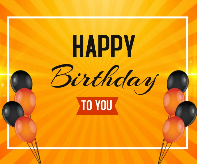 Happy Birthday wishes card background design Rectángulo Mediano template