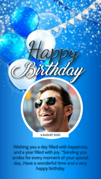 HAPPY BIRTHDAY WISHES CARD Design Template Instagram Story
