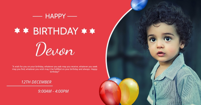Happy birthday wishes Facebook 共享图片 template