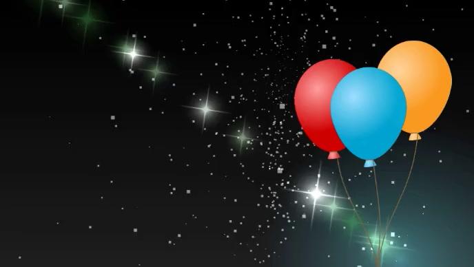 Happy birthday wishes video YouTube 缩略图 template