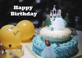 Frozen Happy Birthday A4 template