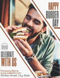 happy burger day restaurant advertisement