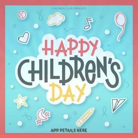 Happy Children's Day Template Instagram Post