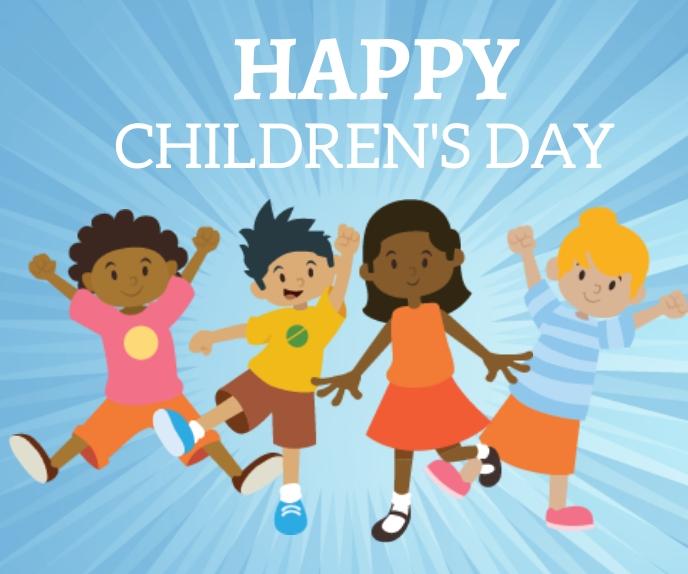 Happy Children Day Rectángulo Grande template