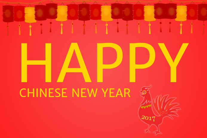 Happy Chinese New year 2017 template