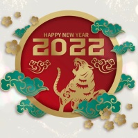 Happy Chinese New Year Video Template Square (1:1)