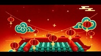 Happy Chinese New year wishes Video Digital Display (16:9) template