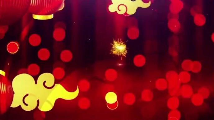 Happy Chinese New year wishes Video Digital na Display (16:9) template