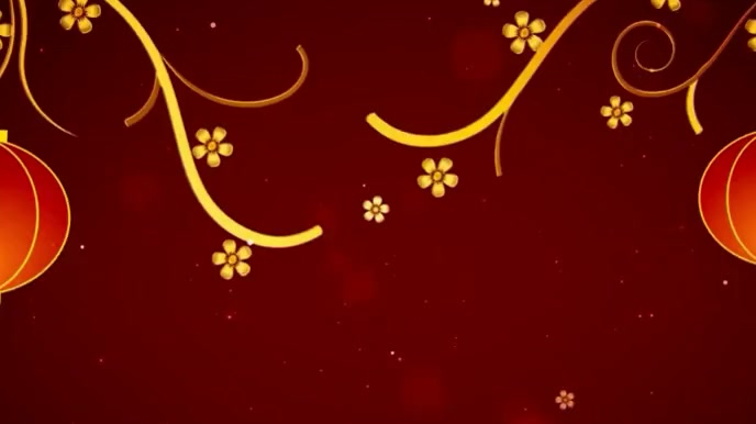 Happy Chinese New year wishes Video Digitalt display (16:9) template