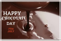 Happy chocolate day Poster template
