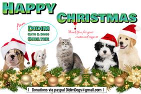 Happy Christmas animal card