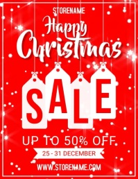 Happy christmas Flyer (US Letter) template