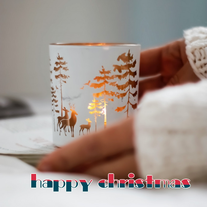 happy christmas Copertina album template