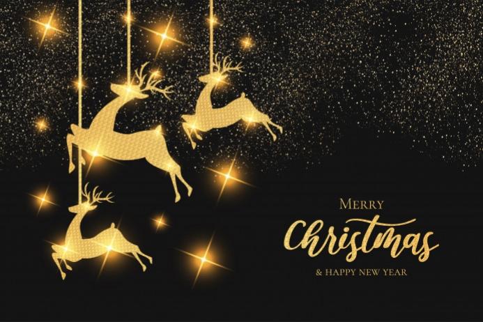 Happy Christmas Etiket template