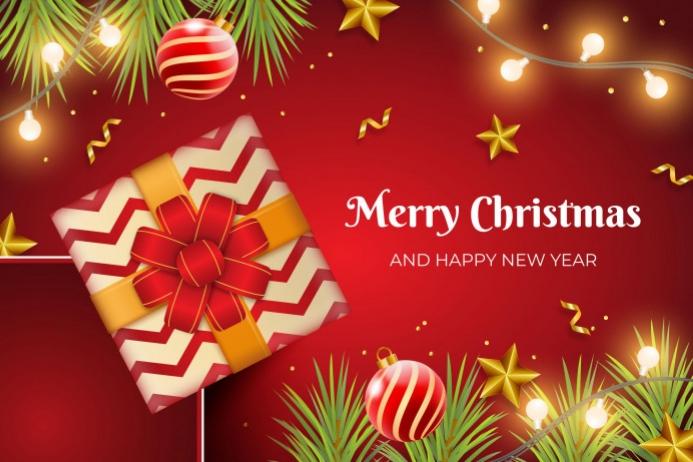 Happy Christmas Etichetta template