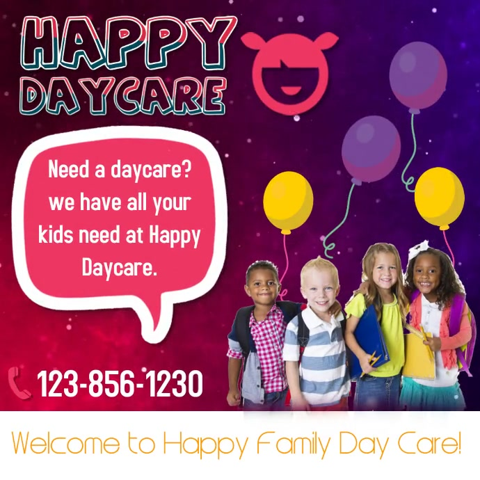 Happy Daycare Instagram Post template