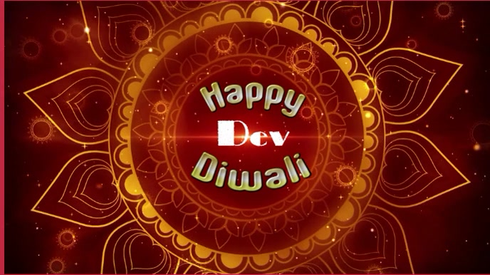 Happy Dev Diwali Animated gif Digital Display (16:9) template