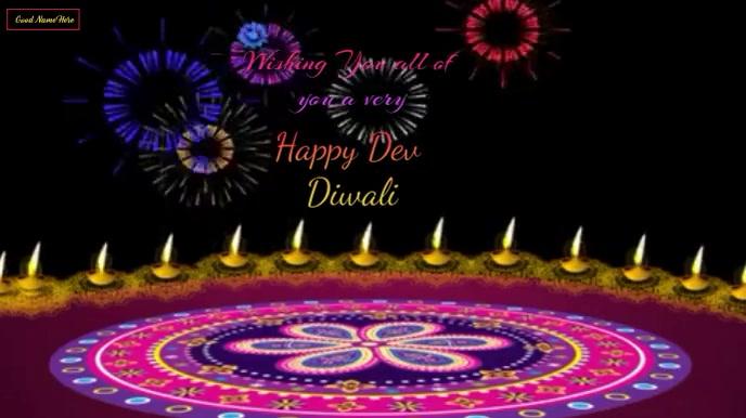 Happy Dev Diwali Wishes animated video Digital Display (16:9) template