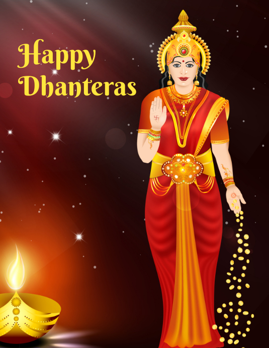 Happy Dhanteras Flyer (format US Letter) template