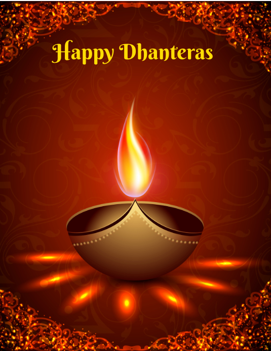 Happy Dhanteras Flyer (Letter pang-US) template