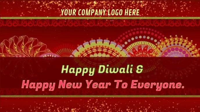 Happy Diwali & Happy New year wishes gif