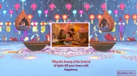 happy diwali & new year wishes animated video Digital Display (16:9) template