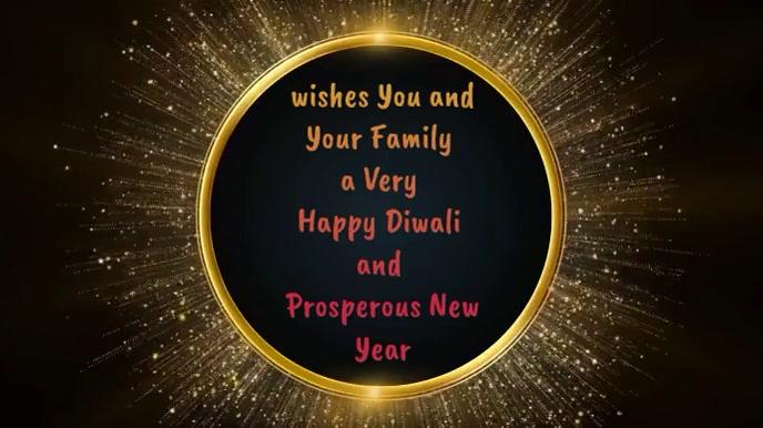 Happy Diwali & New Year wishes Animation Digital Display (16:9) template