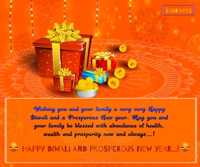 Happy Diwali &New Year wishes Wallpaer Large Rectangle template