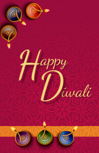 Happy Diwali 2019 02 Half Page Wide template