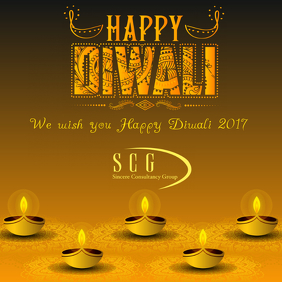 Happy Diwali Card Instagram Post template