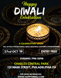 HAPPY DIWALI CELEBRATION Flyer (Letter pang-US) template