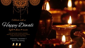 Happy Diwali Dance and Musical Event Ad