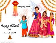 happy diwali Flyer (US Letter) template