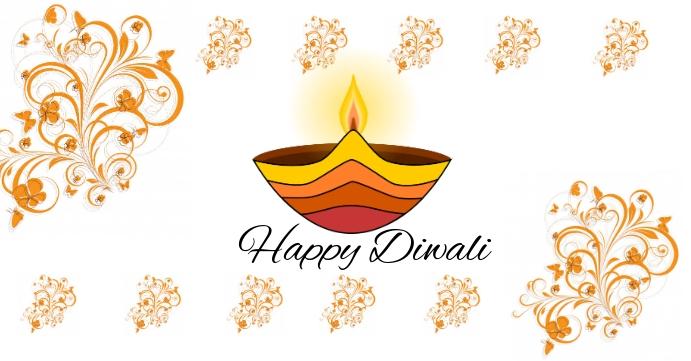 Happy Diwali Couverture d'événement Facebook template
