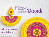 happy diwali Flyer (Letter pang-US) template