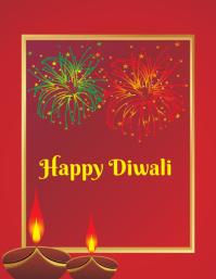 Happy Diwali Løbeseddel (US Letter) template